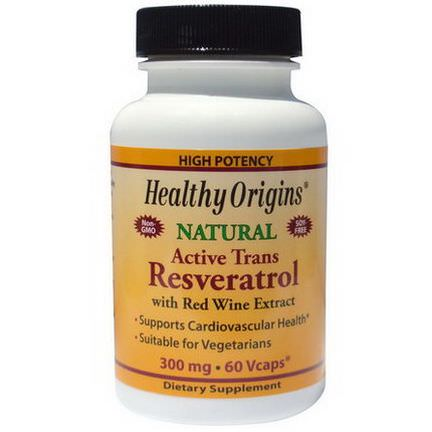 Healthy Origins, Resveratrol With Red Wine Extract, 300mg, 60 Veggie Caps