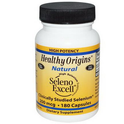 Healthy Origins, Seleno Excell, 200mcg, 180 Capsules