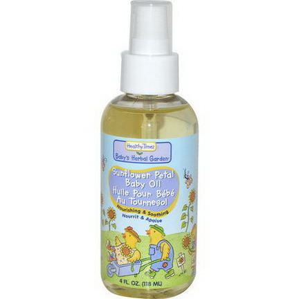 Healthy Times, Baby's Herbal Garden, Baby Oil, Sunflower Petal 118ml