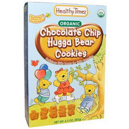 Healthy Times, Organic, Chocolate Chip Hugga Bear Cookies 182g