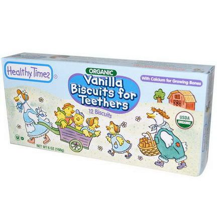 Healthy Times, Organic, Vanilla Biscuits for Teethers, 12 Biscuits 168g