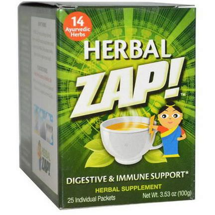 Herbal Zap, Digestive&Immune Support, 25 Packets 100g