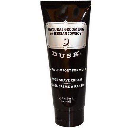 Herban Cowboy, Aloe Shave Cream, Dusk 200ml