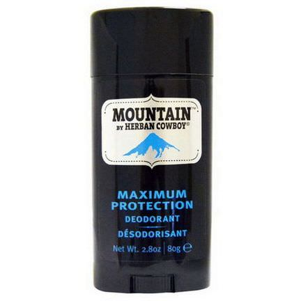 Herban Cowboy, Maximum Protection Deodorant, Mountain 80g