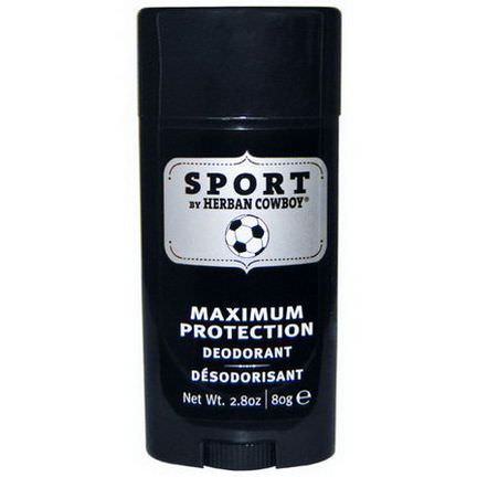 Herban Cowboy, Sport, Maximum Protection Deodorant 80g