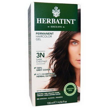 Herbatint, Permanent Hair Color, 3N, Dark Chestnut 135ml