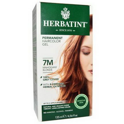 Herbatint, Permanent Haircolor Gel, 7M, Mahogany Blonde 135ml