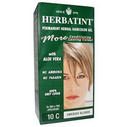 Herbatint, Permanent Herbal Haircolor Gel, 10C, Swedish Blonde 135ml