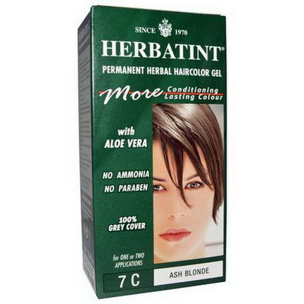 Herbatint, Permanent Herbal Haircolor Gel, 7C, Ash Blonde 135ml
