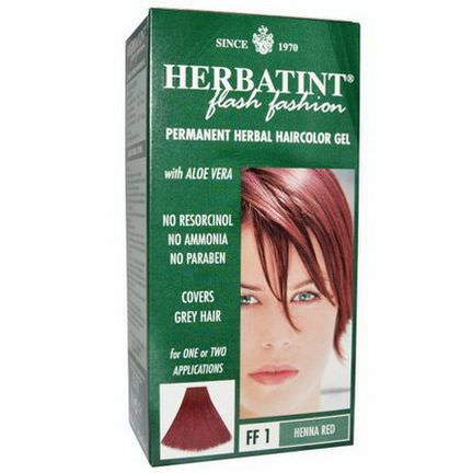Herbatint, Permanent Herbal Haircolor Gel, FF 1 Henna Red 135ml