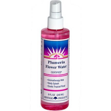 Heritage Products, Flower Water, Plumeria 240ml