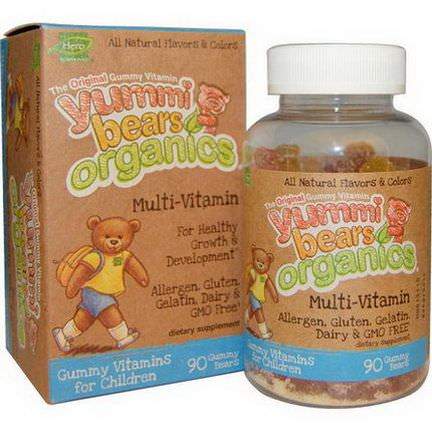 Hero Nutritional Products, Yummi Bears Organics, Multi-Vitamin, 90 Gummy Bears