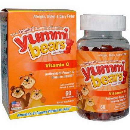 Hero Nutritional Products, Yummi Bears, Vitamin C, Fruit Flavors, 60 Gummy Bears