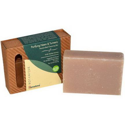 Himalaya Herbal Healthcare, Botanique, Handcrafted Cleansing Bar, Purifying Neem&Turmeric 125g