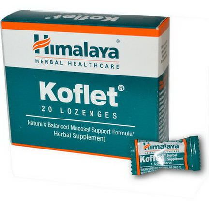 Himalaya Herbal Healthcare, Koflet, 20 Lozenges