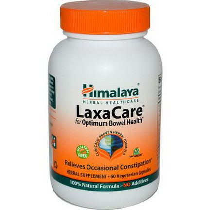 Himalaya Herbal Healthcare, LaxaCare, 60 Veggie Caps