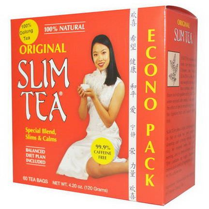 Hobe Labs, Slim Tea, Original, 60 Tea Bags 120g