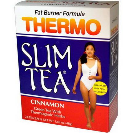 Hobe Labs, Thermo Slim Tea, Fat Burner Formula, Cinnamon, 24 Tea Bags 48g