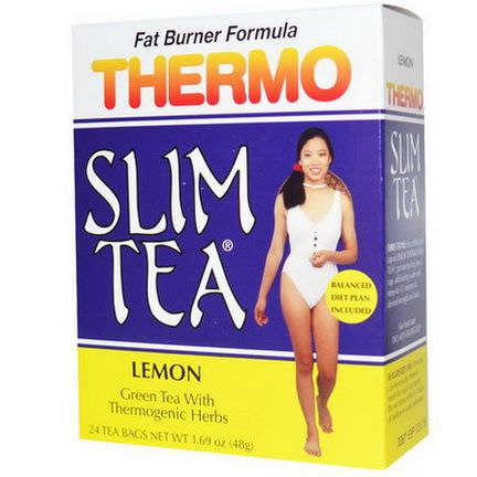 Hobe Labs, Thermo Slim Tea, Lemon, 24 Tea Bags 48g
