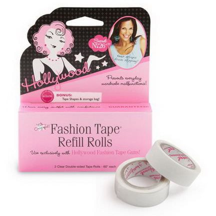 Hollywood Fashion Secrets, Fashion Tape Refill Rolls, 2 Clear Double-Sided Tape Rolls - 60