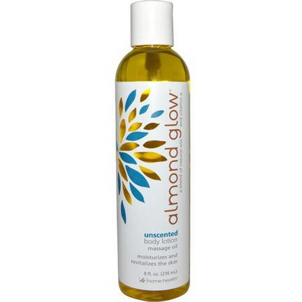 Home Health, Almond Glow, Unscented Body Lotion 236ml