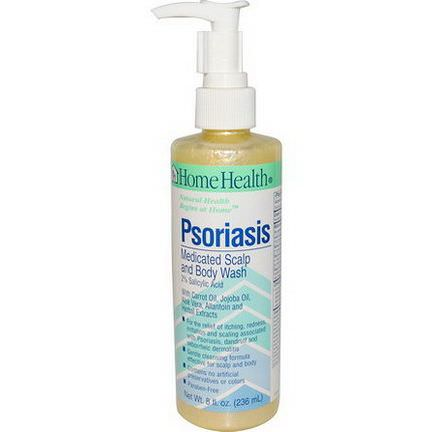 Home Health, Psoriasis, Medicated Scalp and Body Wash 236ml
