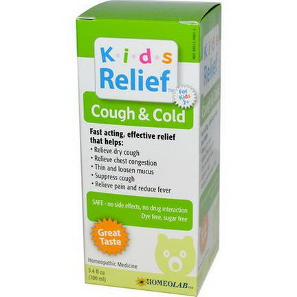 Homeolab USA, Kids Relief, Cough&Cold, For Kids 2+ 100ml
