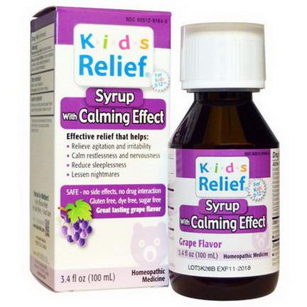 Homeolab USA, Kids Relief, Syrup with Calming Effect, Grape Flavor 100ml