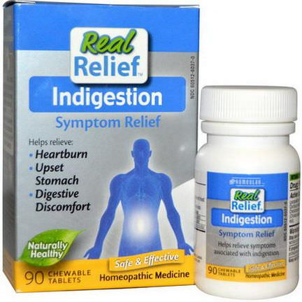 Homeolab USA, Real Relief, Indigestion, 90 Chewable Tablets