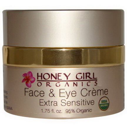 Honey Girl Organics, Face&Eye Cream, Extra Sensitive, 1.75 fl oz