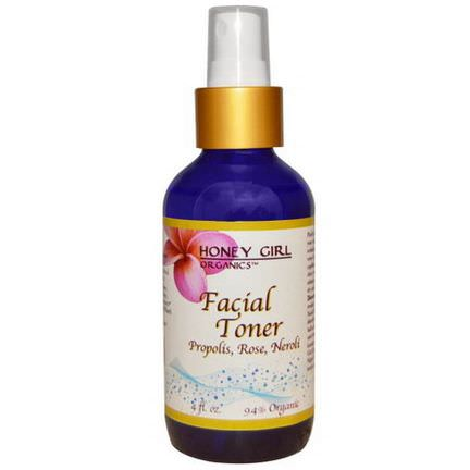 Honey Girl Organics, Facial Toner, Propolis, Rose, Neroli, 4 fl oz