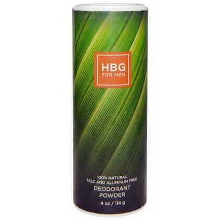 Honeybee Gardens, HBG for Men, Deodorant Powder, Bay Rum 114g