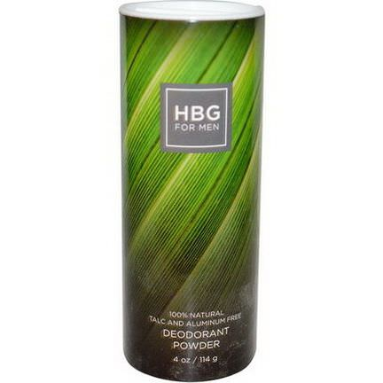 Honeybee Gardens, HBG for Men, Deodorant Powder, Unscented 114g