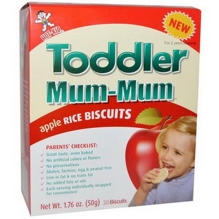 Hot Kid, Toddler Mum-Mum, Apple Rice Biscuits, 20 Biscuits 50g