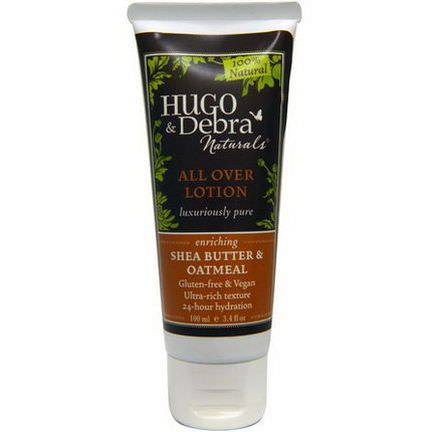 Hugo Naturals, All Over Lotion, Enriching, Shea Butter&Oatmeal 100ml