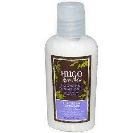 Hugo Naturals, Balancing Conditioner, Tea Tree&Lavender 60ml