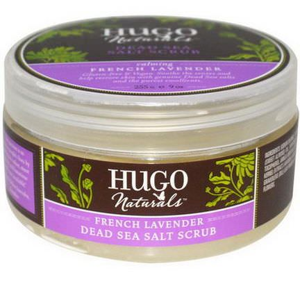Hugo Naturals, Dead Sea Salt Scrub, French Lavender 255g