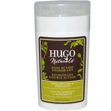 Hugo Naturals, Dual Action Deodorant, Mexican Lime&Bergamot 42.5g
