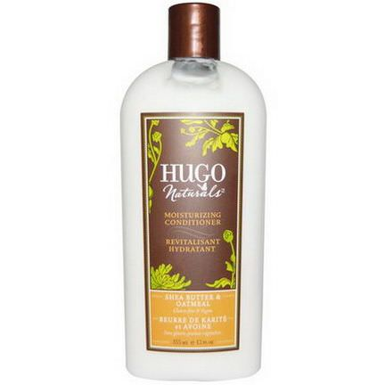 Hugo Naturals, Moisturizing Conditioner, Shea Butter&Oatmeal 355ml