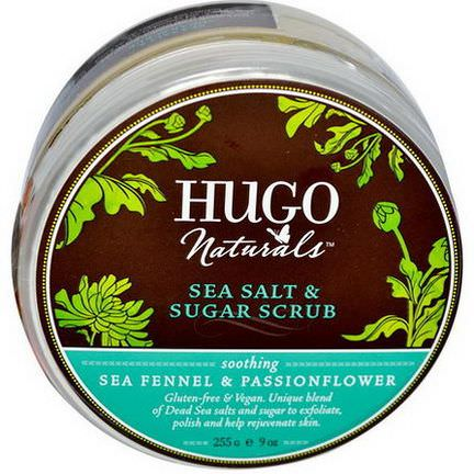 Hugo Naturals, Sea Salt&Sugar Scrub, Sea Fennel&Passionflower 255g