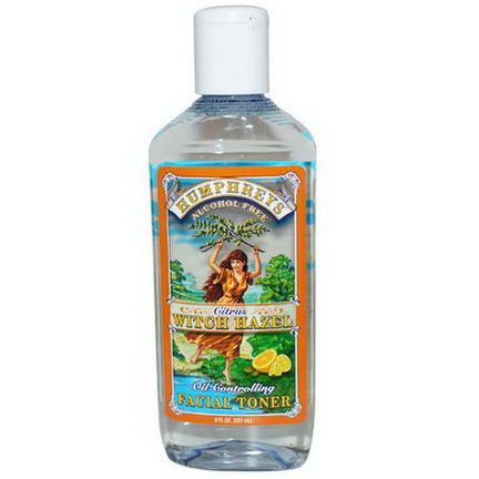 Humphrey's, Citrus Witch Hazel, Oil Controlling Facial Toner 237ml