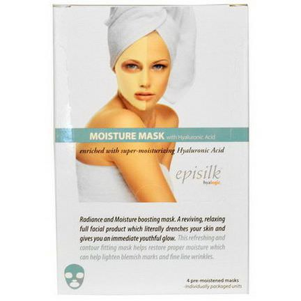 Hyalogic LLC, Episilk Moisture Mask with Hyaluronic Acid, 4 Masks, 1 oz Each
