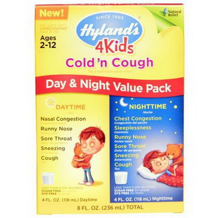 Hyland's, 4 Kids Cold'n Cough Day&Night Value Pack 118ml Each