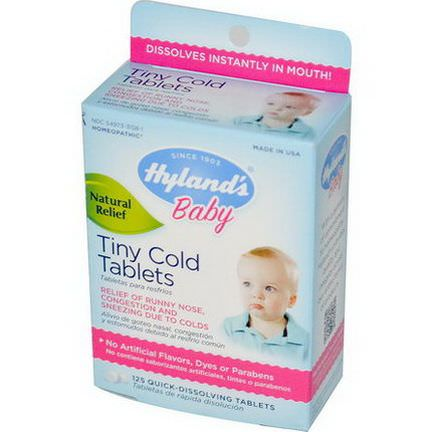 Hyland's, Baby, Tiny Cold Tablets, 125 Quick-Dissolving Tablets
