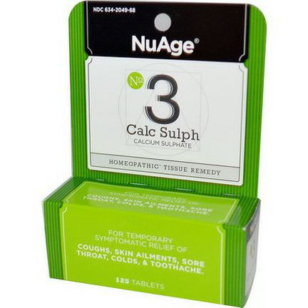 Hyland's, NuAge, No 3 Calc Sulph, 125 Tablets
