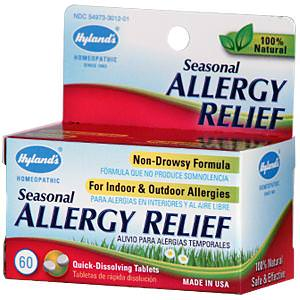 Hyland's, Seasonal Allergy Relief, 60 Quick-Dissolving Tablets