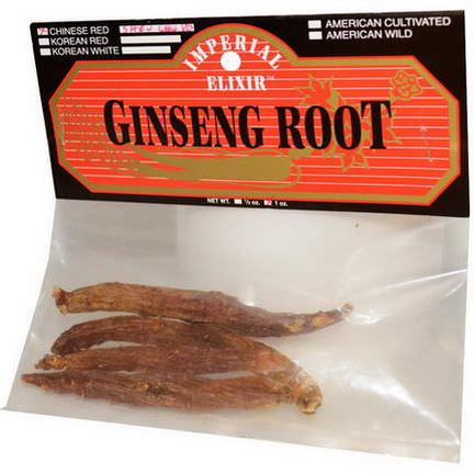 Imperial Elixir, Ginseng Root, Chinese Red Shiu Chu Xu, 1 oz