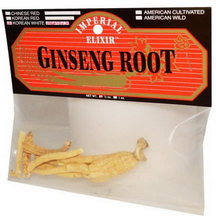 Imperial Elixir, Ginseng Root, Korean White, Heaven 25, 1/2 oz