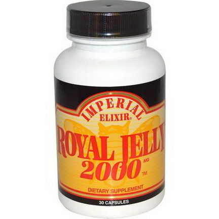 Imperial Elixir, Royal Jelly, 2000mg, 30 Capsules