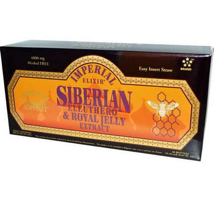 Imperial Elixir, Siberian Eleuthero&Royal Jelly Extract, Alcohol Free, 4000mg, 30 Bottles 10ml Each